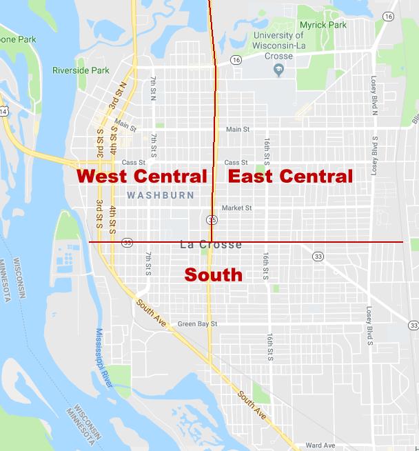 La Crosse Map Sections